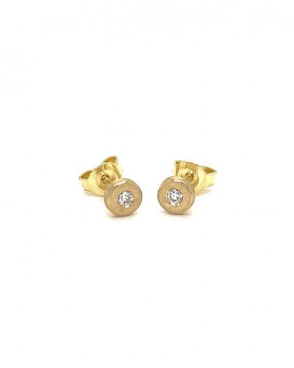Ohrhänger mit Amethyst aus 18 Karat Gelbgold