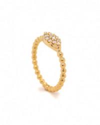 Ring mit Topas London Blue aus 18 Karat Gelbgold