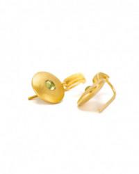 Ring mit Brillanten im Quadrat aus 14 Karat Gelbgold