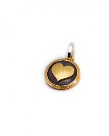 Ring mit Mandaringranat & Nadelquarz aus Gold 14 Karat