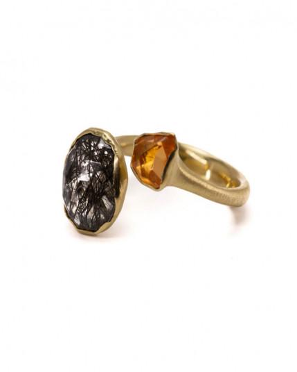 Ring mit grober Struktur aus 925 Silber