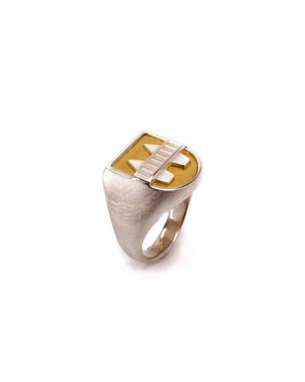Ring mit grünem Turmalin aus 925 Silber