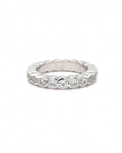 Trauringpaar  Weißgold 4mm breit aus 14 Karat Graugold