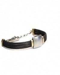 Flexibler Armschmuck mit Apatit und Magnetschließe aus 14 Karat Weißgold