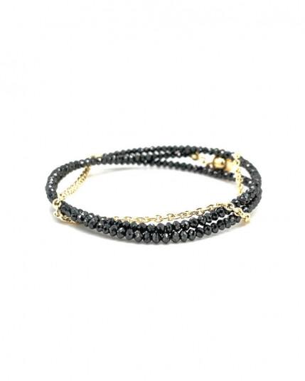 Armkette mit facettiertem Amethyst aus 14 Karat Gelbgold