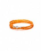 Flexibler Armschmuck mit Spinell und Magnetschließe aus 14 Karat Gelbgold