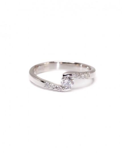Ring mit blauem Email aus 925 Silber