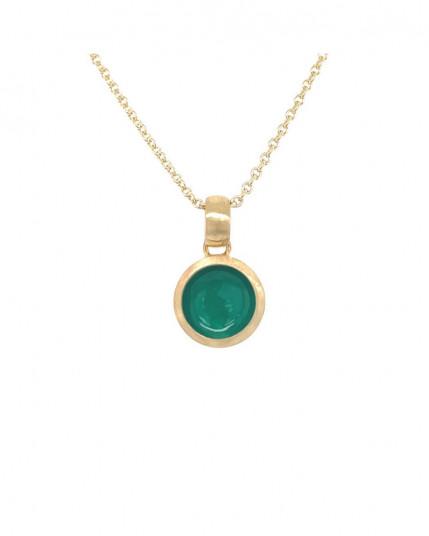 Ring mit navetteförmigen Granat aus 14 Karat Gelbgold
