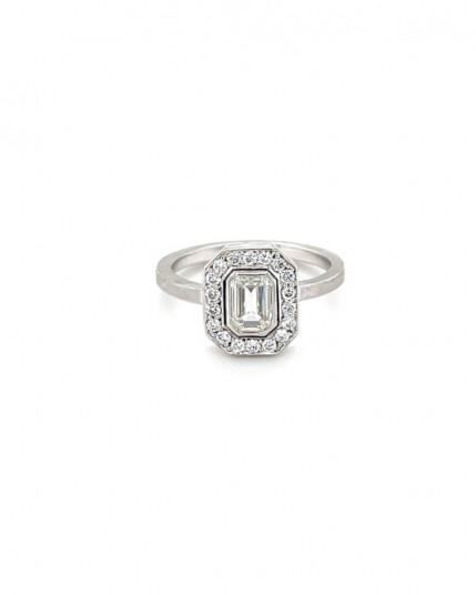 Ring mit Brillanten aus 18 Karat Gelbgold